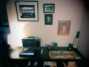 Cricket memorabilia and the Crosley LP player